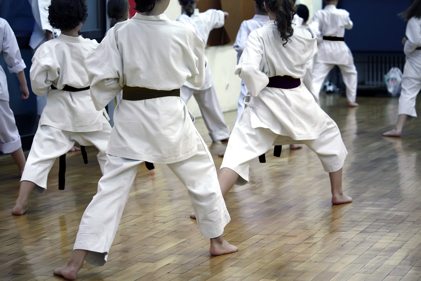Karate, Karatetraining, Kampfsport, asiatisch
